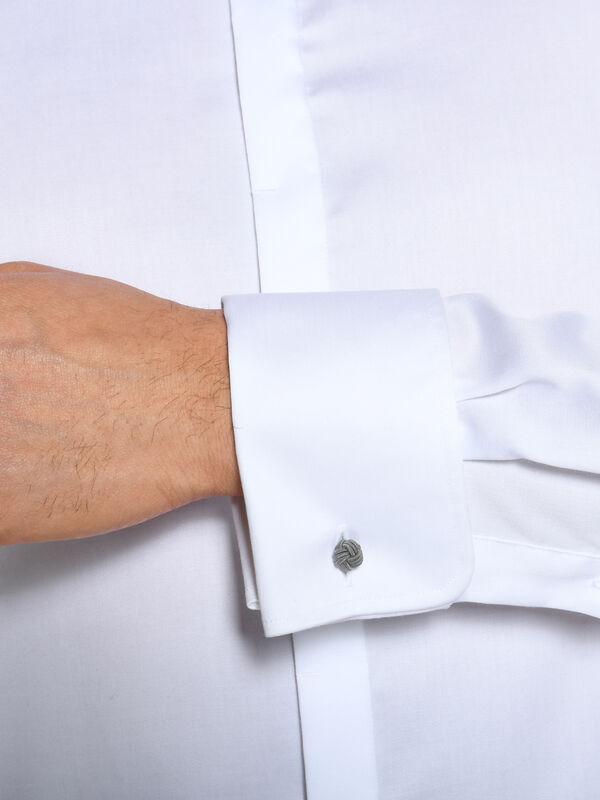 Chemise à poignets mousquetaire Slim Fit